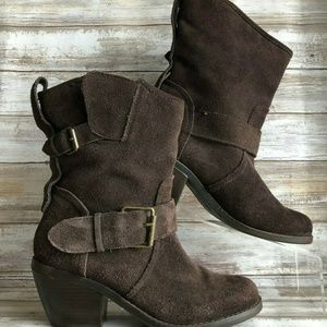 Dolce Vita DV 7.5M Pull On Brown Suede Ankle Boots